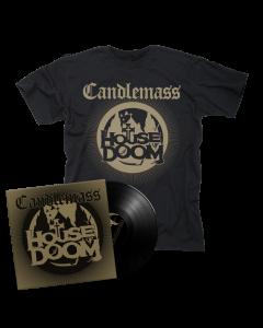 CANDLEMASS-House Of Doom/Limited Edition BLACK Vinyl Gatefold LP EP + T-Shirt Bundle