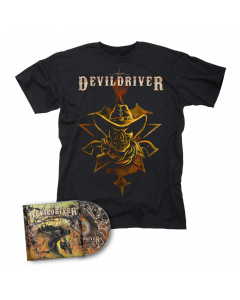 DEVILDRIVER-Outlaws 'Til The End Vol. I/CD + Cowboy T-Shirt Bundle