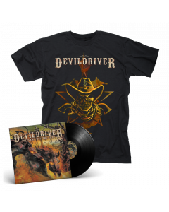 DEVILDRIVER - Outlaws 'Til The End BLACK Vinyl Gatefold LP + Cowboy T-Shirt Bundle