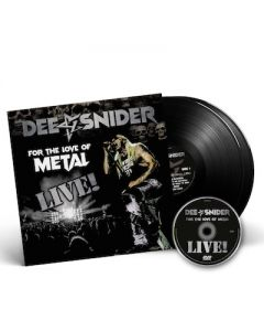DEE SNIDER - For The Love Of Metal Live / BLACK 2LP + DVD + T-Shirt Bundle