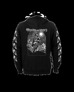 GRAVE DIGGER-Skeleton Bagpiper/Zip Hoodie