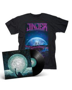 JINJER - Macro / BLACK LP + Retrospection T-Shirt Bundle