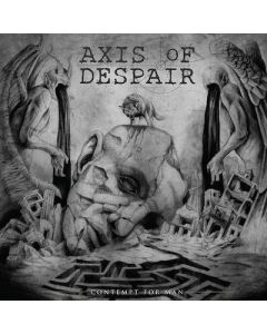 AXIS OF DESPAIR - Contempt For Man / Silver LP