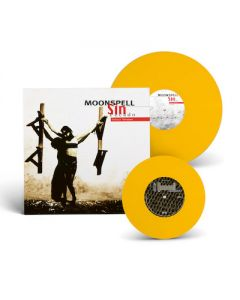 MOONSPELL - Sin/Pecado x 2nd Skin / YELLOW LP Gatefold + 7 Inch EP