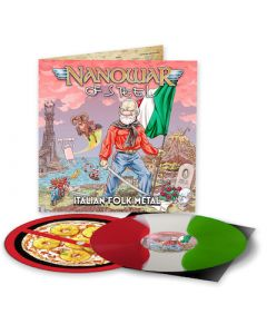 NANOWAR OF STEEL - Italian Folk Metal / LIMITED DIEHARD EDITION GREEN WHITE RED SPLIT LP W/ SLIPMAT