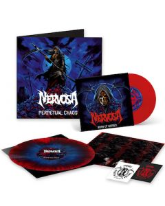 NERVOSA - Perpetual Chaos / LIMITED DIEHARD EDITION BLUE RED SPLATTER LP WITH BONUS RED 7 INCH + PATCH + STICKER