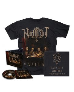 NACHTBLUT - Vanitas / Digipak CD + T-Shirt Bundle