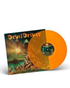 DEVILDRIVER - Dealing With Demons I / ORANGE LP + Skateboard Bundle