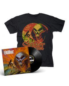 STALKER - Black Majik Terror / BLACK LP + T-Shirt Bundle
