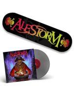 ALESTORM - Curse Of The Crystal Coconut / Silver LP + Skateboard Bundle