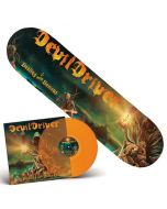 DEVILDRIVER - Dealing With Demons I / ORANGE LP + Skateboard Bundle