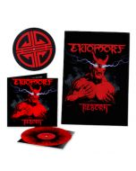 EKTOMORF - Reborn / LIMITED DIEHARD EDITION RED BLACK SPLATTER LP W/ SIGNED POSTER + SLIPMAT
