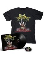 EVIL INVADERS-Surge Of Insanity: Live In Antwerp 2018/Limited Edition BLACK Vinyl  Gatefold 2LP + DVD + T-Shirt Bundle