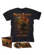 GRAVE DIGGER - Fields Of Blood / Digipak CD + T-Shirt Bundle