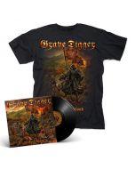 GRAVE DIGGER - Fields Of Blood / BLACK Gatefold LP + T-Shirt Bundle