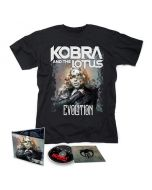 KOBRA AND THE LOTUS - Evolution / CD + T-Shirt Bundle