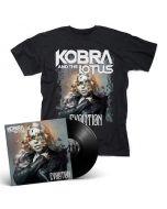 KOBRA AND THE LOTUS - Evolution / Black LP + T-Shirt Bundle