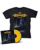 SOJOURNER - Premonitions / Yellow + Blue 2LP + T-Shirt Bundle
