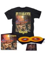 UNLEASH THE ARCHERS - Abyss / YELLOW + RED SWIRL 2LP + T-Shirt Bundle