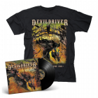 DEVILDRIVER - Outlaws 'Til The End BLACK Vinyl Gatefold LP + T-Shirt Bundle