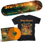 DEVILDRIVER - Dealing With Demons I / ORANGE LP + Shirt + Skateboard Bundle