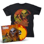 STALKER - Black Majik Terror / RED + YELLOW INKSPOT LP + T-Shirt Bundle